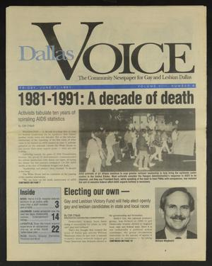 Primary view of object titled 'Dallas Voice (Dallas, Tex.), Vol. 8, No. 6, Ed. 1 Friday, June 7, 1991'.