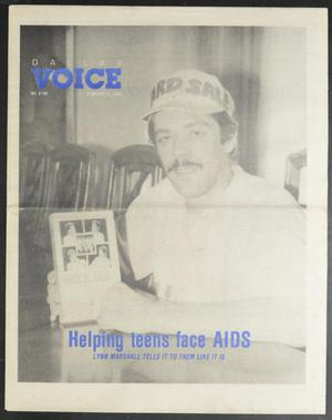 Primary view of object titled 'Dallas Voice (Dallas, Tex.), Vol. 5, No. 40, Ed. 1 Friday, February 3, 1989'.