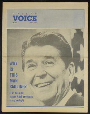 Primary view of object titled 'Dallas Voice (Dallas, Tex.), Vol. 7, No. 1, Ed. 1 Friday, May 4, 1990'.