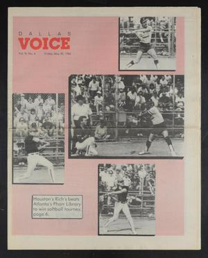 Primary view of object titled 'Dallas Voice (Dallas, Tex.), Vol. 3, No. 4, Ed. 1 Friday, May 30, 1986'.