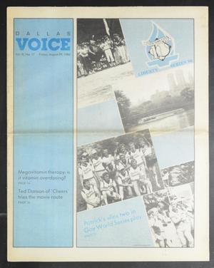 Primary view of object titled 'Dallas Voice (Dallas, Tex.), Vol. 3, No. 17, Ed. 1 Friday, August 29, 1986'.