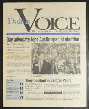 Primary view of object titled 'Dallas Voice (Dallas, Tex.), Vol. 7, No. 42, Ed. 1 Friday, February 15, 1991'.