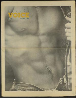 Primary view of object titled 'Dallas Voice (Dallas, Tex.), Vol. 5, No. 18, Ed. 1 Friday, September 2, 1988'.