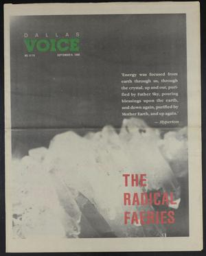 Primary view of object titled 'Dallas Voice (Dallas, Tex.), Vol. 5, No. 19, Ed. 1 Friday, September 9, 1988'.