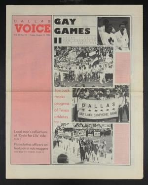 Primary view of object titled 'Dallas Voice (Dallas, Tex.), Vol. 3, No. 15, Ed. 1 Friday, August 15, 1986'.