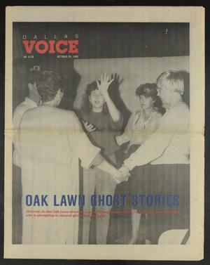 Primary view of object titled 'Dallas Voice (Dallas, Tex.), Vol. 5, No. 26, Ed. 1 Friday, October 28, 1988'.
