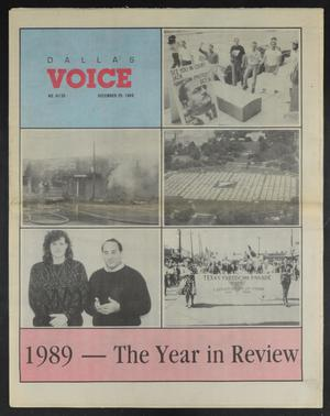 Primary view of object titled 'Dallas Voice (Dallas, Tex.), Vol. 6, No. 35, Ed. 1 Friday, December 29, 1989'.