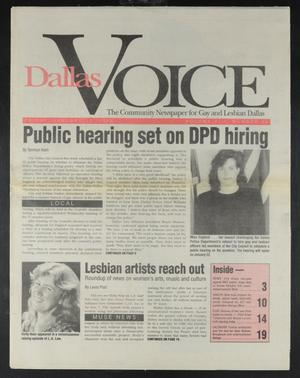 Primary view of object titled 'Dallas Voice (Dallas, Tex.), Vol. 8, No. 38, Ed. 1 Friday, January 10, 1992'.