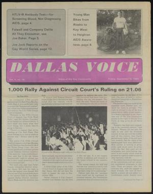Primary view of object titled 'Dallas Voice (Dallas, Tex.), Vol. 2, No. 18, Ed. 1 Friday, September 6, 1985'.