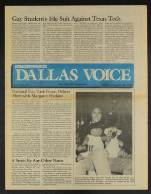 Primary view of object titled 'Dallas Voice (Dallas, Tex.), Vol. 1, No. 33, Ed. 1 Friday, December 21, 1984'.