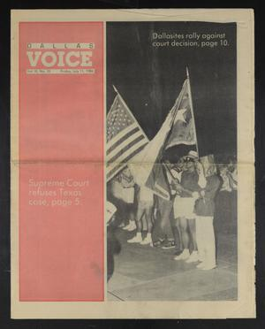 Primary view of object titled 'Dallas Voice (Dallas, Tex.), Vol. 3, No. 10, Ed. 1 Friday, July 11, 1986'.