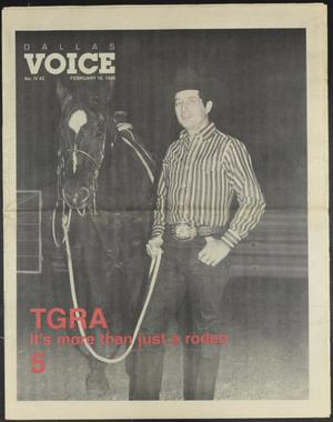Primary view of object titled 'Dallas Voice (Dallas, Tex.), Vol. 4, No. 42, Ed. 1 Friday, February 19, 1988'.