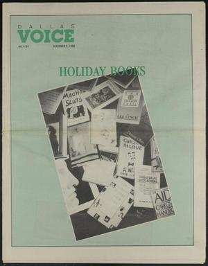 Primary view of object titled 'Dallas Voice (Dallas, Tex.), Vol. 5, No. 32, Ed. 1 Friday, December 9, 1988'.