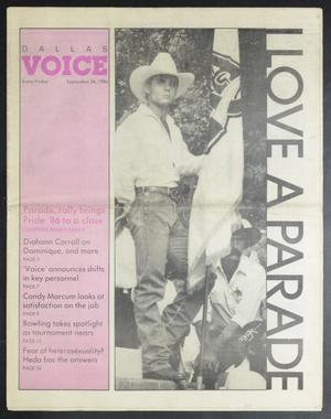 Primary view of object titled 'Dallas Voice (Dallas, Tex.), Vol. 3, No. 21, Ed. 1 Friday, September 26, 1986'.