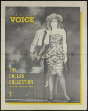 Primary view of object titled 'Dallas Voice (Dallas, Tex.), Vol. 4, No. 38, Ed. 1 Friday, January 15, 1988'.