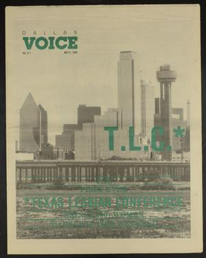 Primary view of object titled 'Dallas Voice (Dallas, Tex.), Vol. 5, No. 1, Ed. 1 Friday, May 6, 1988'.