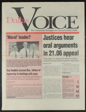 Primary view of object titled 'Dallas Voice (Dallas, Tex.), Vol. 8, No. 41, Ed. 1 Friday, January 31, 1992'.
