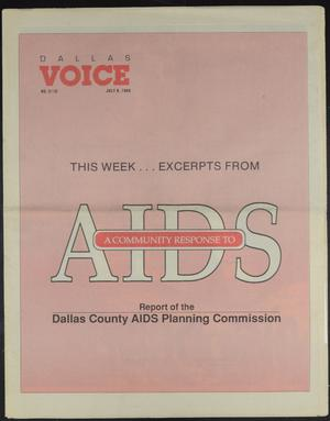 Primary view of object titled 'Dallas Voice (Dallas, Tex.), Vol. 5, No. 10, Ed. 1 Friday, July 8, 1988'.