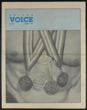Primary view of object titled 'Dallas Voice (Dallas, Tex.), Vol. 7, No. 16, Ed. 1 Friday, August 17, 1990'.