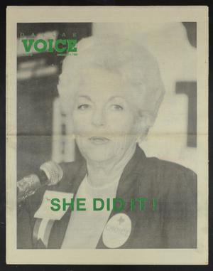Primary view of object titled 'Dallas Voice (Dallas, Tex.), Vol. 7, No. 28, Ed. 1 Friday, November 9, 1990'.