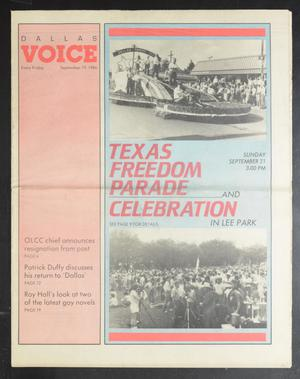 Primary view of object titled 'Dallas Voice (Dallas, Tex.), Vol. 3, No. 20, Ed. 1 Friday, September 19, 1986'.