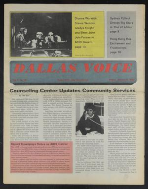 Primary view of object titled 'Dallas Voice (Dallas, Tex.), Vol. 2, No. 35, Ed. 1 Friday, January 3, 1986'.