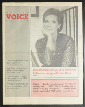 Primary view of object titled 'Dallas Voice (Dallas, Tex.), Vol. 3, No. 35, Ed. 1 Friday, January 2, 1987'.