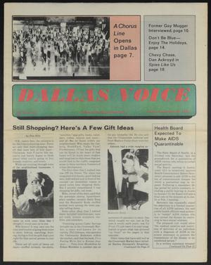 Primary view of object titled 'Dallas Voice (Dallas, Tex.), Vol. 2, No. 33, Ed. 1 Friday, December 20, 1985'.