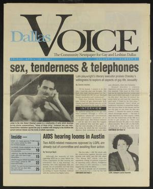 Primary view of object titled 'Dallas Voice (Dallas, Tex.), Vol. 7, No. 51, Ed. 1 Friday, April 19, 1991'.