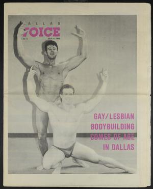 Primary view of object titled 'Dallas Voice (Dallas, Tex.), Vol. 6, No. 11, Ed. 1 Friday, July 14, 1989'.