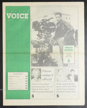 Primary view of object titled 'Dallas Voice (Dallas, Tex.), Vol. 3, No. 38, Ed. 1 Friday, January 23, 1987'.