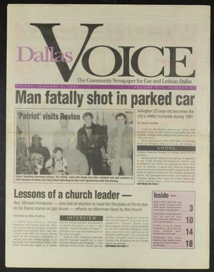 Primary view of object titled 'Dallas Voice (Dallas, Tex.), Vol. 8, No. 37, Ed. 1 Friday, January 3, 1992'.