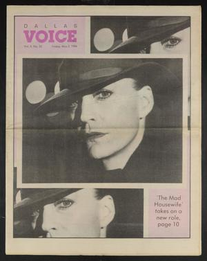 Primary view of object titled 'Dallas Voice (Dallas, Tex.), Vol. 2, No. 52, Ed. 1 Friday, May 2, 1986'.