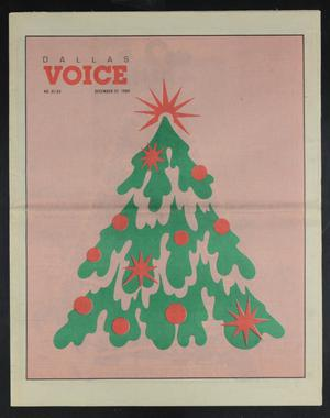 Primary view of object titled 'Dallas Voice (Dallas, Tex.), Vol. 6, No. 34, Ed. 1 Friday, December 22, 1989'.
