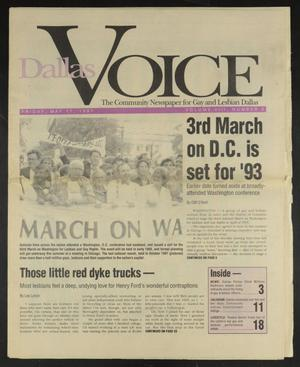 Primary view of object titled 'Dallas Voice (Dallas, Tex.), Vol. 8, No. 3, Ed. 1 Friday, May 17, 1991'.