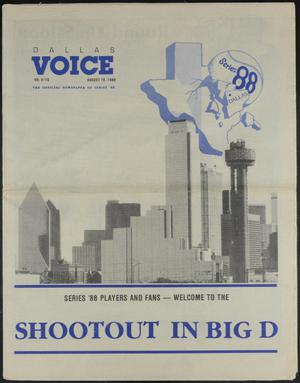 Primary view of object titled 'Dallas Voice (Dallas, Tex.), Vol. 5, No. 16, Ed. 1 Friday, August 19, 1988'.