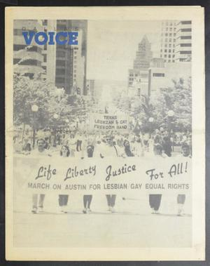 Primary view of object titled 'Dallas Voice (Dallas, Tex.), Vol. 6, No. 1, Ed. 1 Friday, May 5, 1989'.