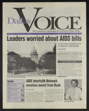 Primary view of object titled 'Dallas Voice (Dallas, Tex.), Vol. 7, No. 52, Ed. 1 Friday, April 26, 1991'.