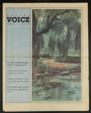 Primary view of object titled 'Dallas Voice (Dallas, Tex.), Vol. 3, No. 45, Ed. 1 Friday, March 13, 1987'.