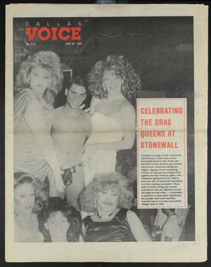 Primary view of object titled 'Dallas Voice (Dallas, Tex.), Vol. 6, No. 9, Ed. 1 Friday, June 30, 1989'.
