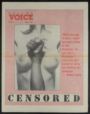 Primary view of object titled 'Dallas Voice (Dallas, Tex.), Vol. 6, No. 52, Ed. 1 Friday, April 27, 1990'.
