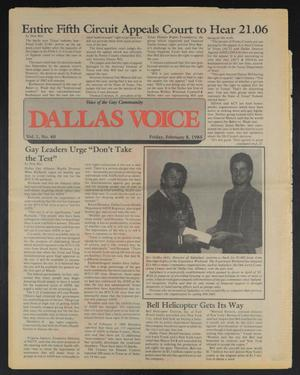 Primary view of object titled 'Dallas Voice (Dallas, Tex.), Vol. 1, No. 40, Ed. 1 Friday, February 8, 1985'.