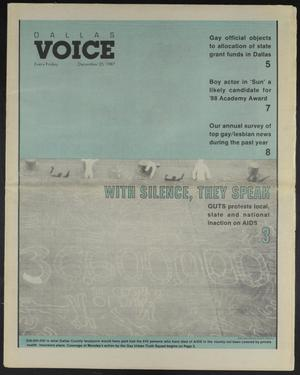 Primary view of object titled 'Dallas Voice (Dallas, Tex.), Vol. 4, No. 34, Ed. 1 Friday, December 25, 1987'.
