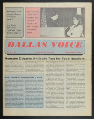 Primary view of object titled 'Dallas Voice (Dallas, Tex.), Vol. 2, No. 39, Ed. 1 Friday, January 31, 1986'.
