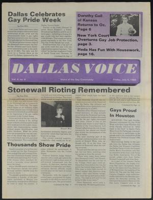 Primary view of object titled 'Dallas Voice (Dallas, Tex.), Vol. 2, No. 9, Ed. 1 Friday, July 5, 1985'.