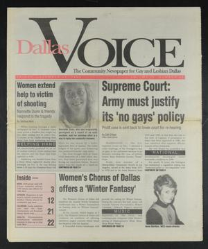 Primary view of object titled 'Dallas Voice (Dallas, Tex.), Vol. 9, No. 33, Ed. 1 Friday, December 11, 1992'.