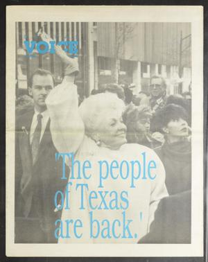 Primary view of object titled 'Dallas Voice (Dallas, Tex.), Vol. 7, No. 38, Ed. 1 Friday, January 18, 1991'.