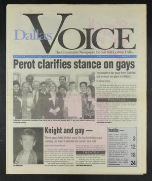 Primary view of object titled 'Dallas Voice (Dallas, Tex.), Vol. 9, No. 11, Ed. 1 Friday, July 10, 1992'.
