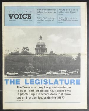 Primary view of object titled 'Dallas Voice (Dallas, Tex.), Vol. 3, No. 24, Ed. 1 Friday, October 17, 1986'.