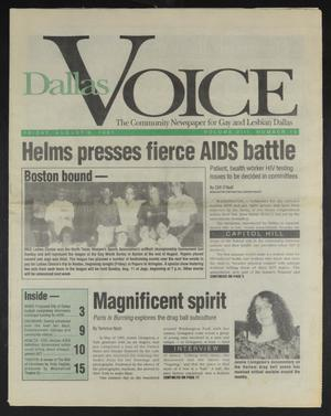 Primary view of object titled 'Dallas Voice (Dallas, Tex.), Vol. 8, No. 15, Ed. 1 Friday, August 9, 1991'.
